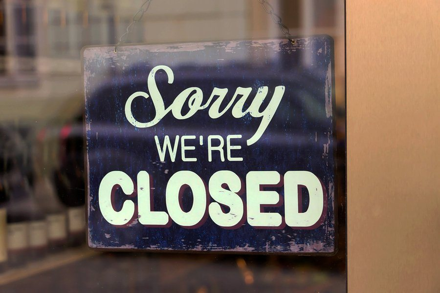 bigstock a closed shop has a sign in th 59428763 1 - Business Interruption Insurance: The Basics